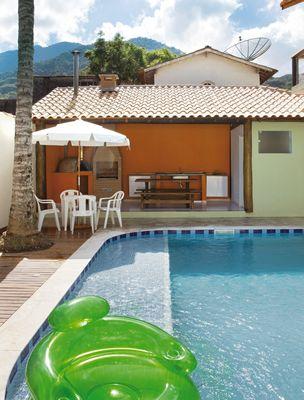 casa da piscina eucalipto tratato trada tratamento foto lindo